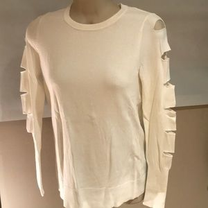 Central Park West, size Small, cream sweater
